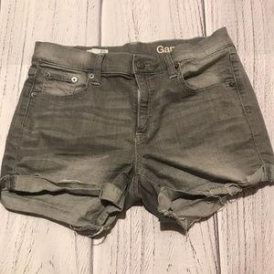 Grey Gap Cut-Off Jean Shorts